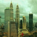 View of Petronas Towers from our room.