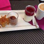 Cafe gourmand  Onglet avec ses légumes  Tajines au citron