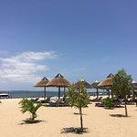 Área para banho de praia.