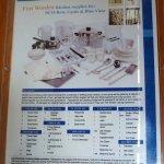 Inventory of kitchen supplies