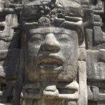 Close up of Stela 9 Temple at Lamanai