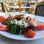 Greek Salad and Shrimps