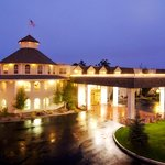 Inn takes on a romantic feeling as a rain gently falls at night.  It's warm and cozy inside.
