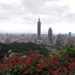 Vista da cidade de Taipei na Montanha do Elefante