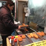 """Kuromon Market stall - this is the """"potato man"""" this was an incredible stall"""