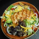 Entree salads are taken VERY seriously....top with chicken, salmon, shrimp or steak.