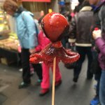 Small octopus on a stick