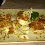 Pecan crusted snapper