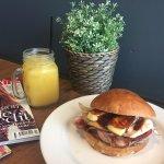 Bacon and Egg Burger with Haloumi and Avo