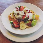 Muesli with Greek Yoghurt and Fresh fruit