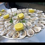Delicious oysters from the raw bar on our Patio!