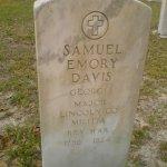 Headstone of Jefferson David's father