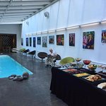 Pool and Breakfast Buffet