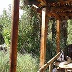 terraza de cabaña