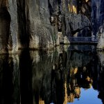 Stone Forest_reflections in calm Sword Peak Pond