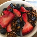 granola and fruit healthy and yum!