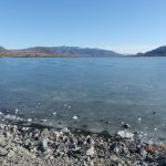 Thicker ice on the South end of Osoyoos Lake.