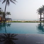 Looking out from the infinity pool...