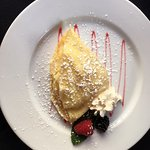 Part of one of our delicious breakfasts- a wonderful crepe!