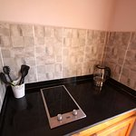 Seahorse kitchen with electric hob, kettle, toaster, microwave