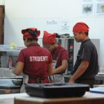 Students hone their culinary skills in a State-of-the Art kitchen..