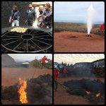 Demonstration of the volcanic activities