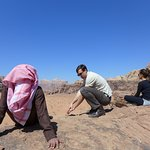 a pause to enjoy the view of Wadi Rum