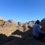 A view from Jabal Rum, on our hike