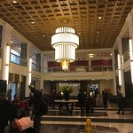 Hotel lobby in 1930s Art Deco style
