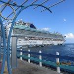 Our Cruise Ship from Ocho Rios Beach