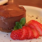 chocolate and ginger cheesecake