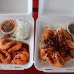BUTTER GARLIC SHRIMP & Sweet & Spicy Shrimp