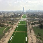 """Gli """"Champs de Mars"""" (sullo sfondo la Tour Montparnasse e la cupola del Hotel des Invalides). Fo"""