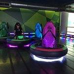 bumper cars in new kids play building
