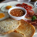 English Breakfast. All good except the baked beans.