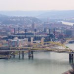 3 Rivers stadium from Duquesne Incline