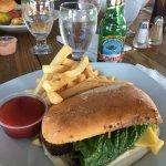 Steak sandwich paired with Balashi beer!