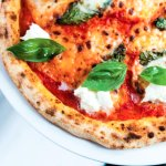 Margherita organic sourdough pizza