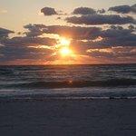 The sunrise one morning