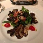 Portobello mushroom appetizer as a main course