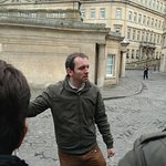 Andrew during our walking tour of Bath