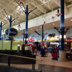 Big, airy food court, lots of options