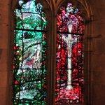 Beatiful modern glass in a small chapel