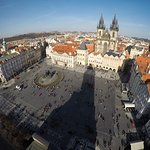 View of town square from Astronomical Clock Tower
