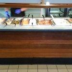 Hot side of the buffet bar