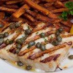 Nova Scotia Halibut & Sweet Potato Fries