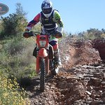 down hill on the ktm 350 exc