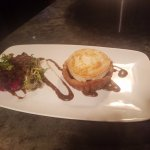 Goats cheese and red marmalade tart. Full of flavour.