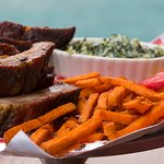Smoked Baby Back Ribs with Sweet Fries and Creamed Spinach