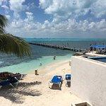 Beautiful view, great mahi fish tacos and cold beer!